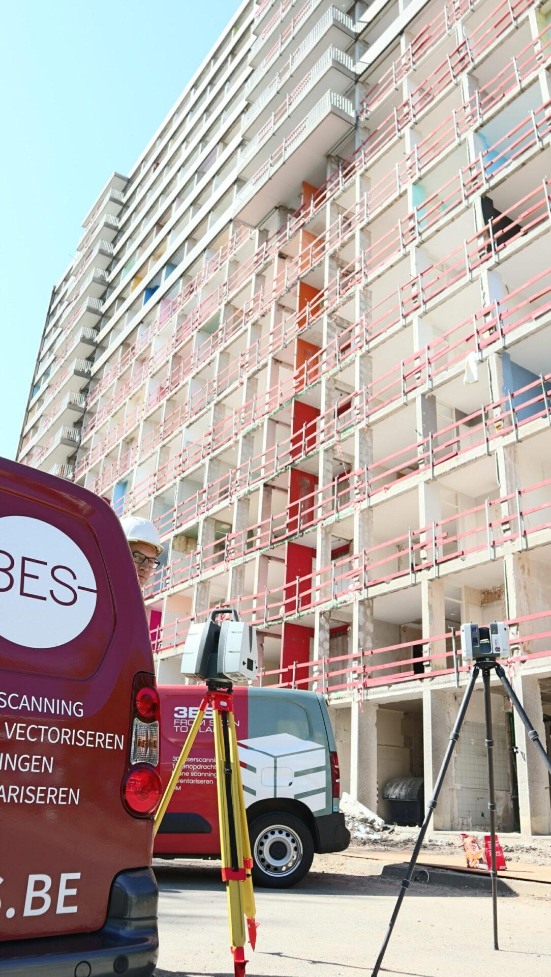 3ES | Laserscanning | as built | werf vuylsteke